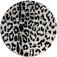 rug #731833 | round white animal rug