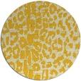 rug #731849 | round yellow animal rug