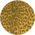 rug #731865 | round light-orange animal rug