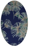 rug #732649 | oval blue graphic rug