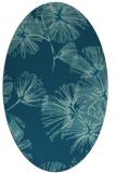 rug #732669 | oval blue-green natural rug