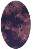 rug #732713 | oval blue-violet graphic rug