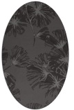 rug #732765 | oval brown graphic rug