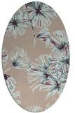 rug #732773 | oval pink natural rug