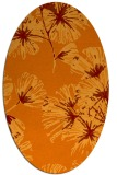 rug #732805 | oval orange graphic rug