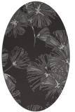 rug #732817 | oval red-orange graphic rug