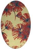 rug #732821 | oval yellow rug