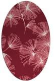 rug #732829 | oval pink rug