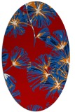 rug #732857 | oval red graphic rug