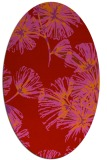 rug #732869 | oval red graphic rug