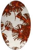 rug #732885 | oval red-orange natural rug