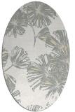 rug #732901 | oval white rug