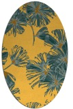 rug #732921 | oval yellow graphic rug