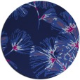 rug #733349 | round blue graphic rug
