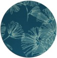 rug #733373 | round blue-green graphic rug