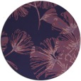 rug #733417 | round purple natural rug