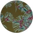 rug #733441 | round mid-brown natural rug