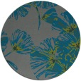 rug #733449 | round blue-green graphic rug