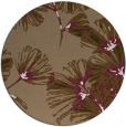 rug #733473 | round mid-brown popular rug