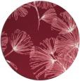 rug #733533 | round pink rug