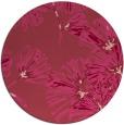 rug #733537 | round pink graphic rug
