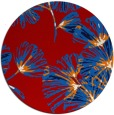rug #733561 | round red graphic rug