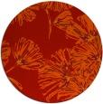 rug #733565 | round orange graphic rug