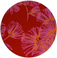 rug #733573 | round red natural rug
