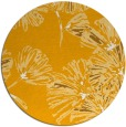 rug #733657 | round light-orange graphic rug