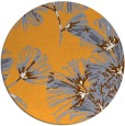 rug #733669 | round light-orange graphic rug