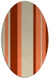 rug #734573 | oval beige stripes rug