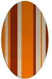 rug #734693 | oval orange rug