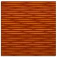 rug #737801 | square red-orange stripes rug