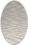 rug #737897 | oval white stripes rug