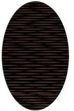 rug #737913 | oval brown stripes rug