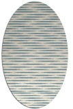rug #737921 | oval white stripes rug