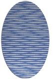 rug #737937   oval blue stripes rug