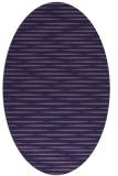 rug #737993 | oval blue-violet rug