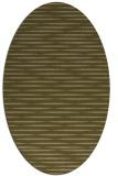 rug #738017   oval mid-brown stripes rug