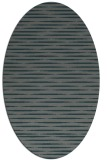 rug #738025 | oval blue-green natural rug