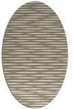 rug #738037 | oval white stripes rug