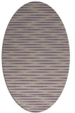 rug #738077 | oval purple stripes rug