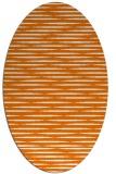 rug #738089 | oval orange stripes rug