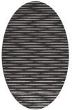 rug #738097 | oval red-orange stripes rug