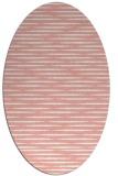 rug #738117 | oval white stripes rug