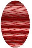 rug #738137 | oval red stripes rug