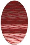 rug #738145 | oval red natural rug