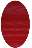 rug #738149 | oval red stripes rug