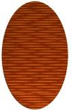 rug #738153 | oval red-orange stripes rug