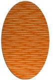 rug #738157 | oval red-orange rug